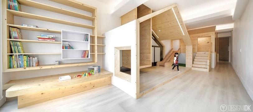 家居也是遊樂場 木滑梯木屋助孩子快樂成長