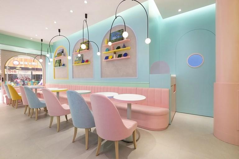 法式浪漫 粉色系甜品店設計激發少女心