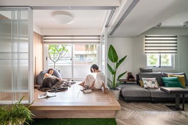 馬卡龍色調營造屬於女性的空間 多功能和室促進家人互動