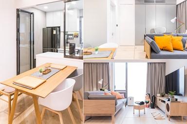 地台橫跨房間與客廳 儲物空間大增